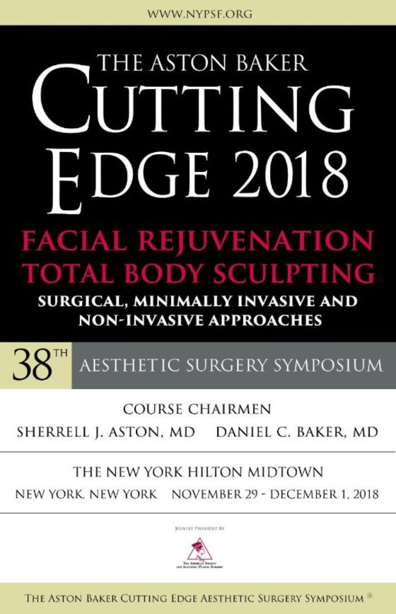 The aston baker cutting edge aesthetic surgery symposium 2018 new york usa l