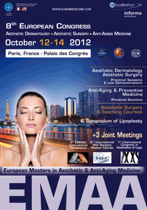 Emaa 2012 8th european masters in aesthetic anti aging 59 l
