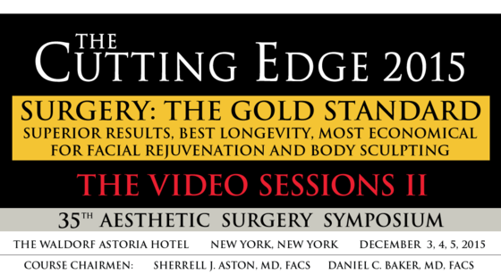 The cutting edge aesthetic surgery symposium 2015 l