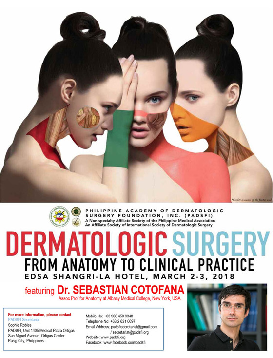 15th annual congress dermatologic surgery from anatomy to clinical practice manila philippines 124 l