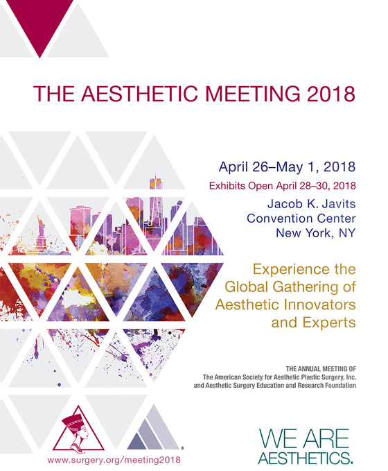 The aesthetic meeting 2018 jacob k javits convention center new york ny l
