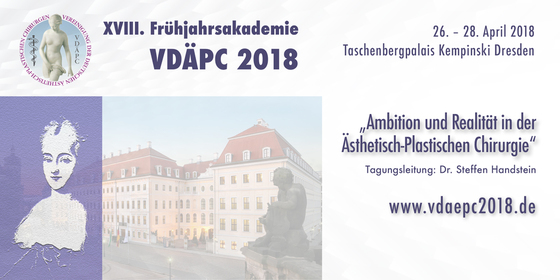 18th german association of aesthetic plastic surgeons vdapc spring meeting 2018 dresden germany l